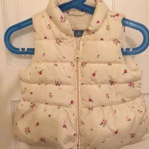 Super cute fleece lined vest baby girl 12-18 mos